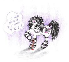 My Little EMO Pony by Victoria-Poloniae