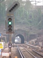 green light at tunnel by sifreeman
