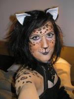 Leopard Face + Bodypaint by toberkitty