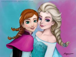 Disney FROZEN_ANNA and ELSA by megancpshin04