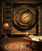 Steampunk Traveler's Maps #1 by Trisste-stocks