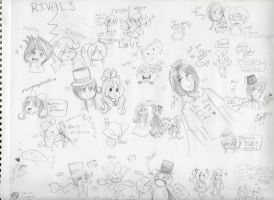 TGA and AW8 Doodle Page 2 by Angelwing8