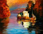 Evening sun by Leonid Afremov by Leonidafremov