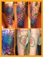 Dahlia Coverup Tattoo by patheticpeacepirate