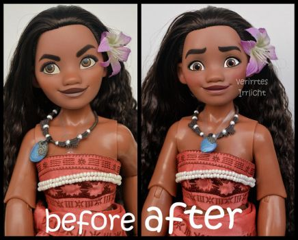 repainted ooak limited edition moana/ vaiana doll. by verirrtesIrrlicht