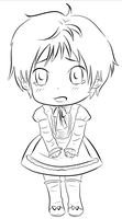 APH Latvia Maid Line-art by RanChu-Obscure