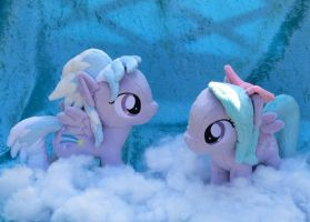 Flitter and Cloudchaser (Filly Version) Plushies by navkaze