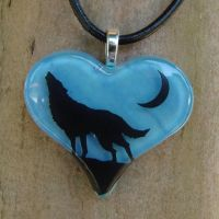 Wolf Love Fused Glass by FusedElegance