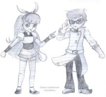 Dexter and Blossom FUSIONFALL by IBStudent07