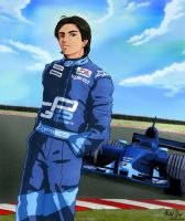 Nelson Piquet Jr by Artoki