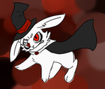here he is the gay rabbit idiot by LtCatnip