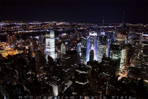 NYC 1am from Empire State by xnoux