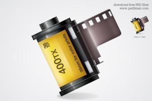 Film roll icon by psdblast