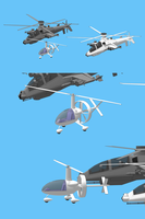 SecondLife design Gyrocopter in sketchup by NezumiYuki