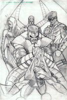 X-Men Pencils by CliffEngland