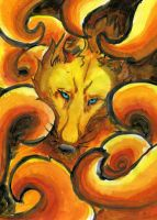 Nine Tails: I See You by La-gato-negro