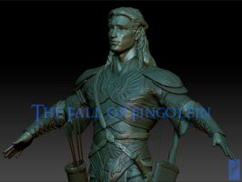 Fingon the Valiant - Turnaround (Detail) by Breogan