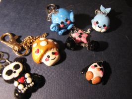 Assorted keychains and charms by phantasmicandra