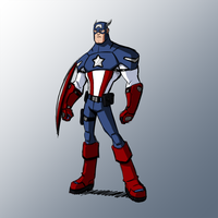 Captain America Redesign by KrisSmithDW