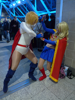 Power Girl and Supergirl by EricTheVelociraptor
