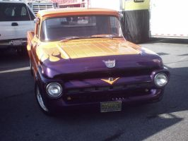 purple and orange ford hot rod by Ozzlander