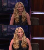 Jennifer Lawrence (BBW Morph Before and After) by MattBrewer