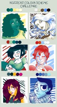 Colour Scheme Challenge by Rozzers by InkCell-Illustration