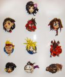 Final Fantasy VII Magnets by TheLandoBros
