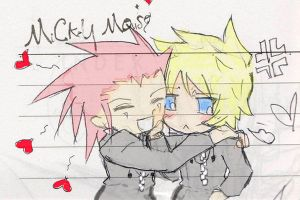 KHII Axel and Roxas by BumblebeeSam