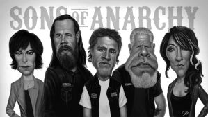 Sons of Anarchy Caricatures by Disse86