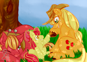Under an Apple Tree's shade by CherryPumkin
