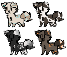 Puppy Adoptables Four |Open| by LeveButt