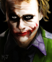 The Joker (Heath Ledger) by MelMelArt
