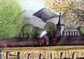 Ploughing a lonely furrow (detail) by spookyjules