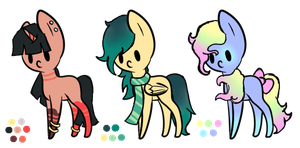 Cheap Point Adopts - Pony Batch 1 [CLOSED] by HelloColdWorldAdopts