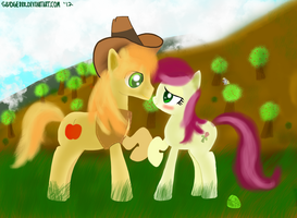 Braeburn and Roseluck: The unexpected pairing by Sludge888