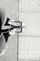 B and W XX Hi Converse by FredBeans