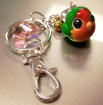 Round Lovebird Charm by ShinyCation
