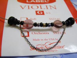 Violin G String Necklace by lightningshour