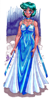 Cosmic Background: Princess Mercury by AmethystSadachbia