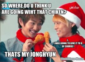 Onew's chicken-macros by chise-x