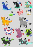 Cat Adoptables 7 - OPEN!!! by EspeonUmbreonLover