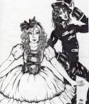 Alice and the Mad Hatter by Vampiressartist