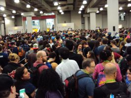 NYCC '15: Yeah, It's Crowded by PanicPagoda