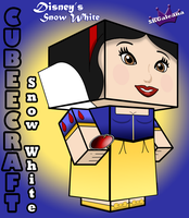 Disney's Princess Snow White 3D cubeecraft by SKGaleana