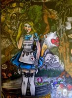 The Pool Of Tears ( Alice In Wonderland ) by CelesteGomezArts