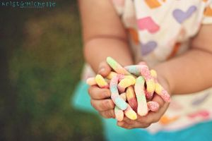 Sour worms and Annabelle by KristyMichelle