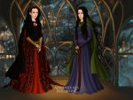 Tess Black and Elvira Vargo: Sisters in michief. by himurakenshinfan19