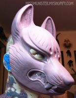 Kitsune mask WIP by missmonster