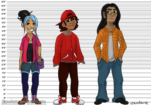 Quick Character Height Chart by Speedvore